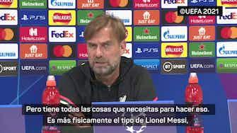 Imagen de vista previa para Klopp compara a Messi con Salah