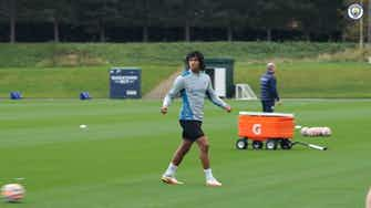 Preview image for City stars take part in shooting drills ahead of Brighton match