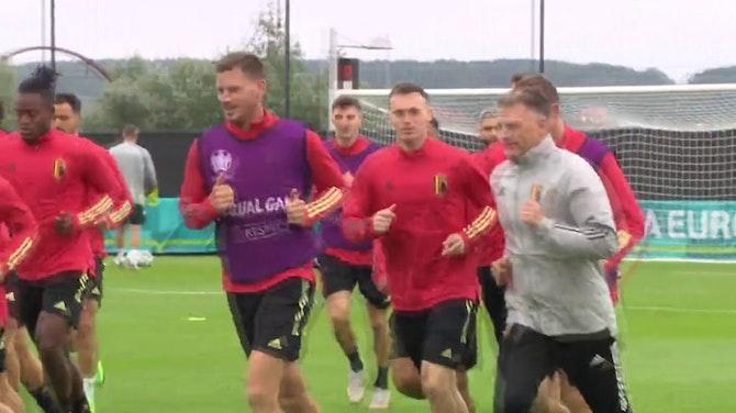 Image d'aperçu pour Euro 2020 : Quarts - De Bruyne et Hazard absents de l'entraînement belge