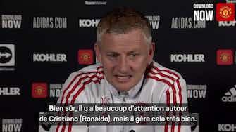 """Image d'aperçu pour Man United - """"Tout est normal' pour Solskjaer après l'arrivée de Ronaldo"""