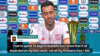 Preview image for Busquets looking to continue Spain success after COVID-19 return