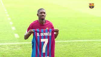Anteprima immagine per Ousmane Dembélé indossa la nuova maglia mentre prosegue la sua guarigione.