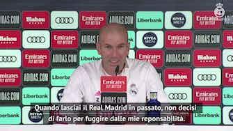 """Anteprima immagine per Zidane: """"Arriva il momento di cambiare, prima o poi..."""""""
