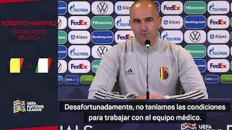 Imagen de vista previa para Roberto Martínez asegura que Hazard no está lesionado y que solo sufre una sobrecarga
