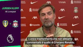 """Anteprima immagine per Klopp: """"Sorpreso che Ronaldo abbia lasciato la Juve"""""""