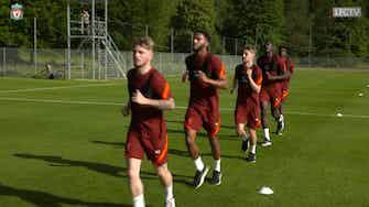 Preview image for Konaté, Van Dijk and Salah in Liverpool pre-season training