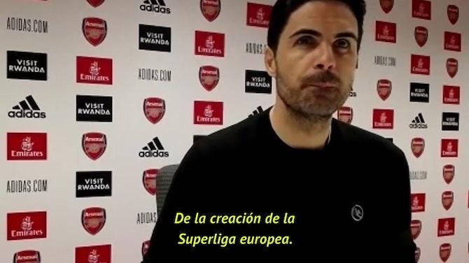 """Arteta, sobre la Superliga europea: """"Cuando tenga más información les daré mi opinión"""""""