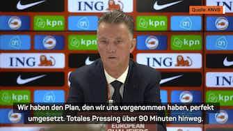 """Vorschaubild für Van Gaal: """"Haben unseren Plan perfekt umgesetzt"""""""