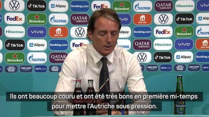 """Image d'aperçu pour 8es - Mancini : """"Notre banc nous a aidé à changer le cours du match"""""""