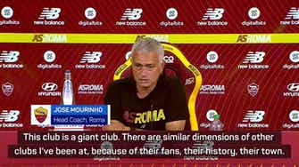 Preview image for Mourinho needs time at 'giant club' Roma