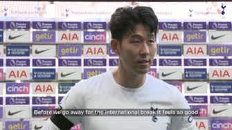 Preview image for Heung-Min Son delighted with victory over Aston Villa