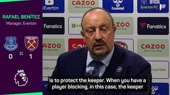 Preview image for Benitez urges referees to 'protect' keepers after Pickford no-call