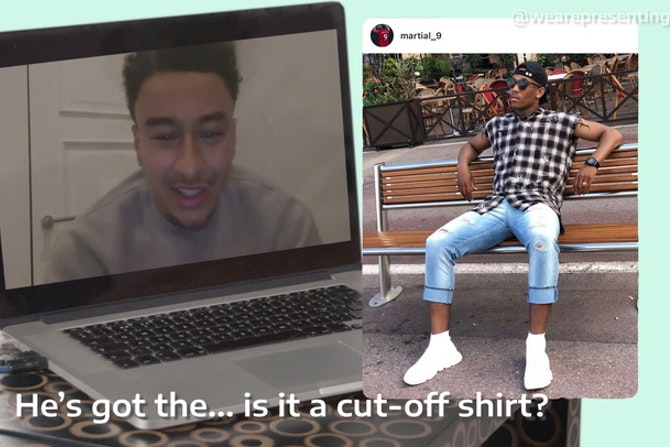 Jesse Lingard rates Anthony Martial's style