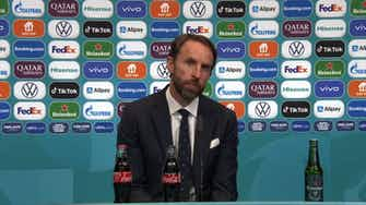 Preview image for You can't beat a bit of Sweet Caroline! I England 2-0 Germany I Gareth Southgate press conference ©️UEFA 2021
