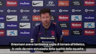 """Anteprima immagine per Simeone svela: """"Griezmann aveva tanta voglia di tornare"""""""