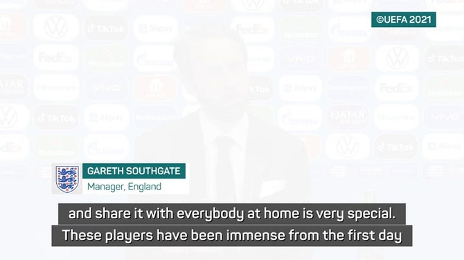 Preview image for Southgate celebrates 'special night' as England reach maiden Euro final