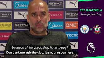 Preview image for Ask the club about ticket prices, not me - prickly Pep after City fans' backlash