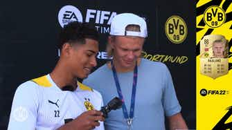 Preview image for Bellingham shows Haaland his Fifa 22 rating