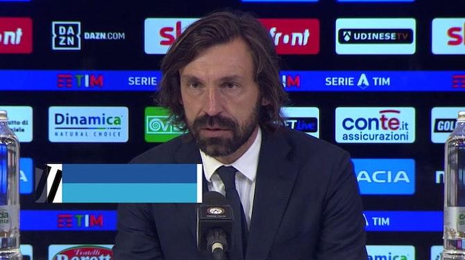 """Pirlo e lo scudetto all'Inter: """"È capitato. Siamo rammaricati"""""""