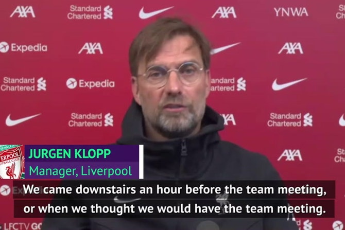 'Protests must be peaceful' - Klopp condemns United fans