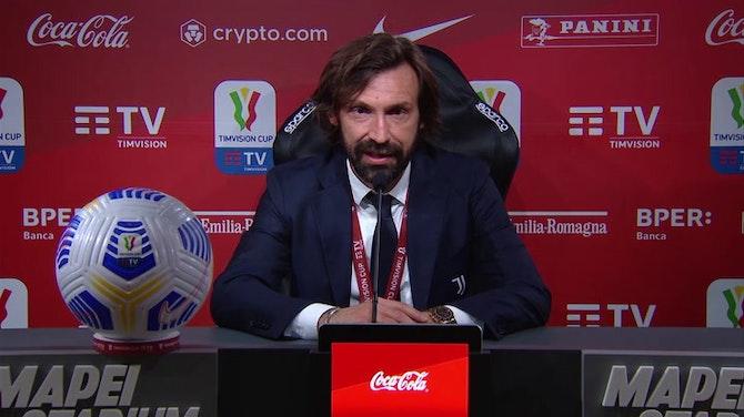 """Anteprima immagine per Pirlo si conferma e punta l'Inter: """"Supercoppa? Non vedo l'ora"""""""