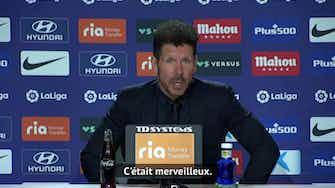 """Image d'aperçu pour 36e j. - Simeone """"ému"""" par les chants des supporters"""