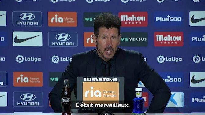 """36e j. - Simeone """"ému"""" par les chants des supporters"""