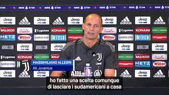 """Anteprima immagine per Allegri non cerca alibi: """"Siamo contati ma a Napoli per vincere"""""""