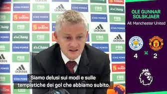 """Anteprima immagine per Solskjaer: """"Prendere quattro gol così..."""""""