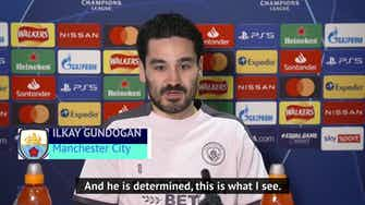 Preview image for Gundogan aware of the 'hurt' Haaland can inflict on City