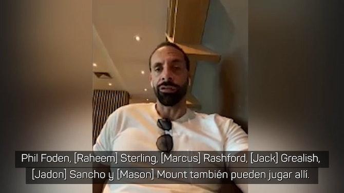 """Ferdinand: """"Foden, Sterling, Rashford, Grealish, Sancho y Mount... es una locura"""""""