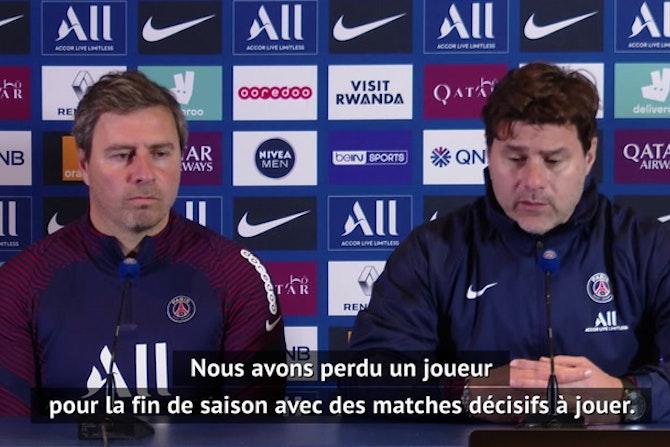 """PSG - Pochettino : """"J'espère que Verratti sera de retour pour l'Euro"""""""