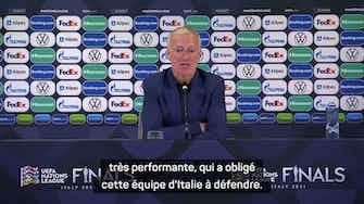 """Image d'aperçu pour Demies - Deschamps veut gagner dimanche face à une """"Espagne très performante"""""""