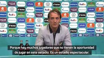 """Imagen de vista previa para Mancini: """"Debemos jugar a la altura del estadio"""""""