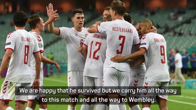 Preview image for 'Christian should be here with us' - Hjulmand after Denmark reach semis