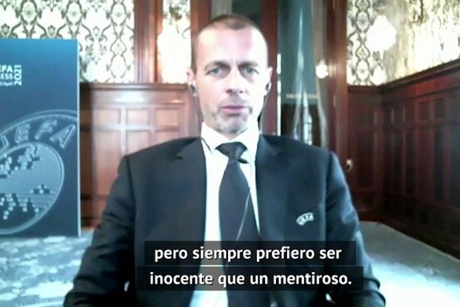 """Ceferin, sobre la Superliga: """"Lo que ha sucedido es inmoral"""""""