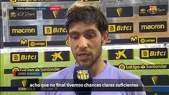 """Imagem de visualização para Sergi Roberto lamenta empate do Barça: """"Perdemos dois pontos"""""""