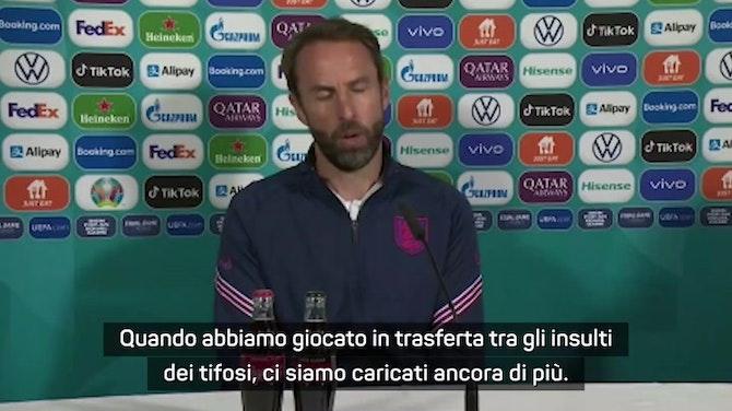 """Anteprima immagine per Southgate ai tifosi inglesi: """"Non fischiate l'inno italiano"""""""
