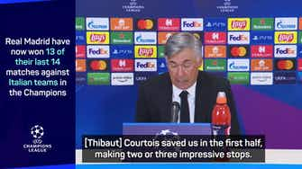 Preview image for Ancelotti and Inzaghi praise Courtois as Real beat Inter