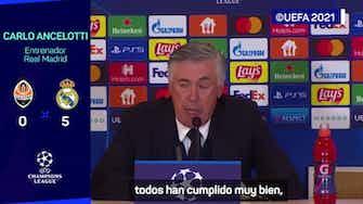 Imagen de vista previa para Ancelotti valoró haber terminado sin goles en contra