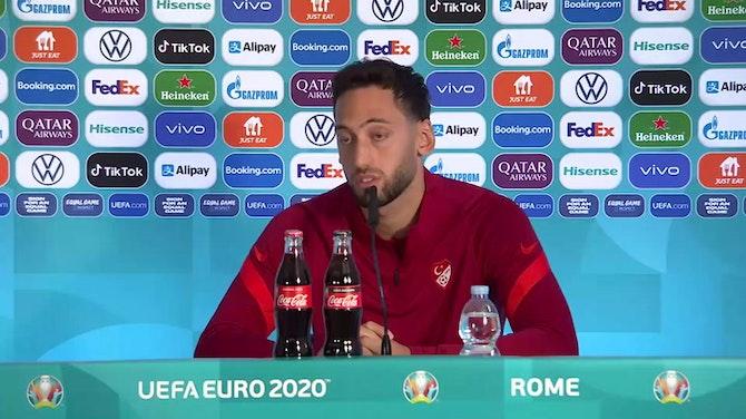"""Calhanoglu: """"Rispettiamo l'Italia. Il futuro? Ho sentito Maldini"""""""