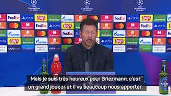 """Image d'aperçu pour Groupe B - Simeone : """"Très heureux pour Griezmann"""""""