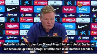 Vorschaubild für PSG-Angebot für Messi lässt Koeman kalt