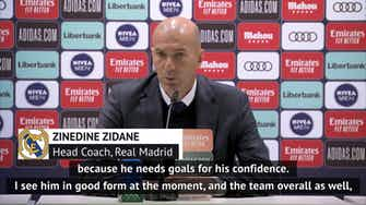 Preview image for Zidane happy for Asensio; hopeful for Hazard return against Liverpool