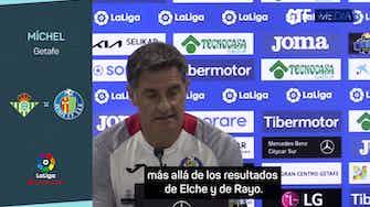"""Imagen de vista previa para Míchel: """"Mis jugadores no bajan los brazos"""""""