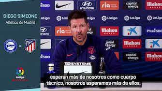 """Imagen de vista previa para Diego Simeone: """"Siempre exijo más de todos mis jugadores"""""""