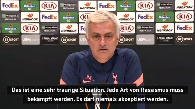 """Mourinho zu Rassismus-Eklat: """"Spiel muss in Erinnerung bleiben!"""""""