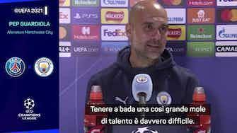 """Anteprima immagine per Guardiola e l'attacco del PSG: """"Come fermarli? Non ne ho idea"""""""