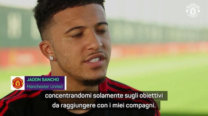 """Anteprima immagine per United, finalmente Sancho: """"I miei gol e i miei assist per il club"""""""
