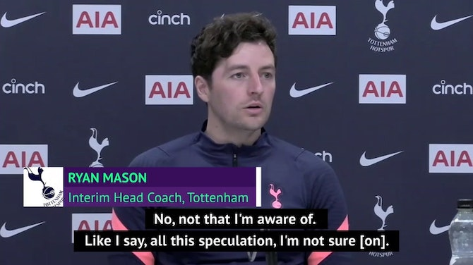 Mason 'unaware' if Kane has asked to leave Spurs